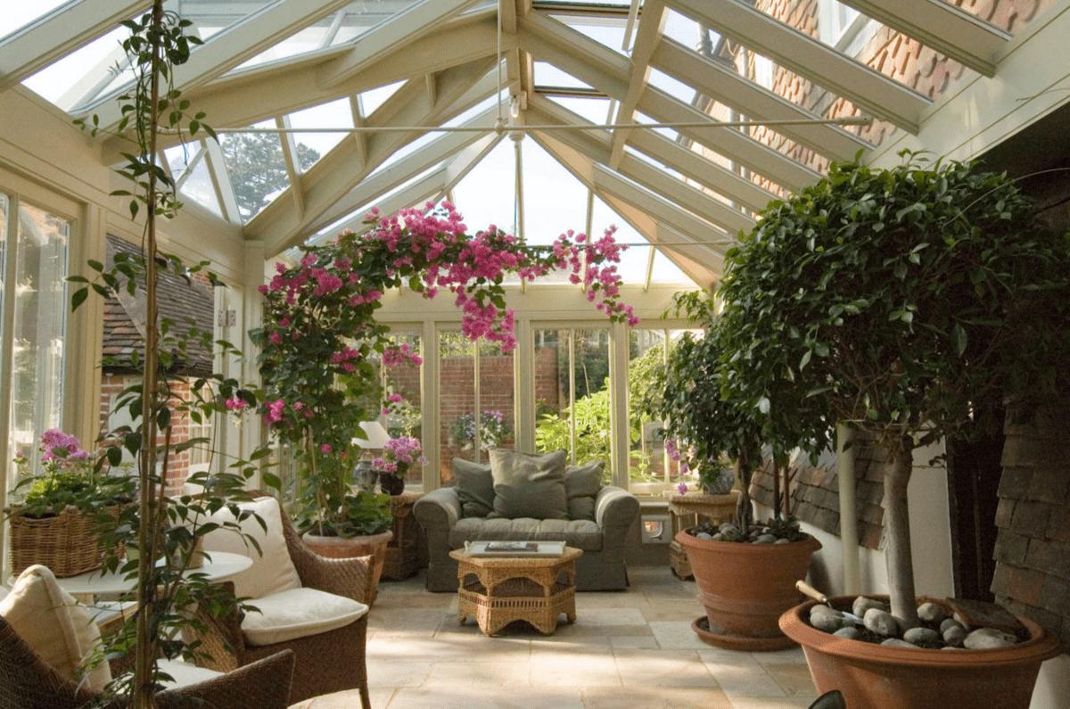 зимний сад фото в доме лежит